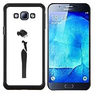 Diseño Haut Couture Mujer Vestido Negro- Metal de aluminio y de plástico duro Caja del teléfono - Negro - Samsung Galaxy A8 / SM-A800