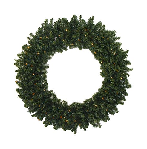 Northlight  Pre-Lit Battery Operated Canadian Pine Artificial Christmas Wreath with Warm Clear LED Lights, 36