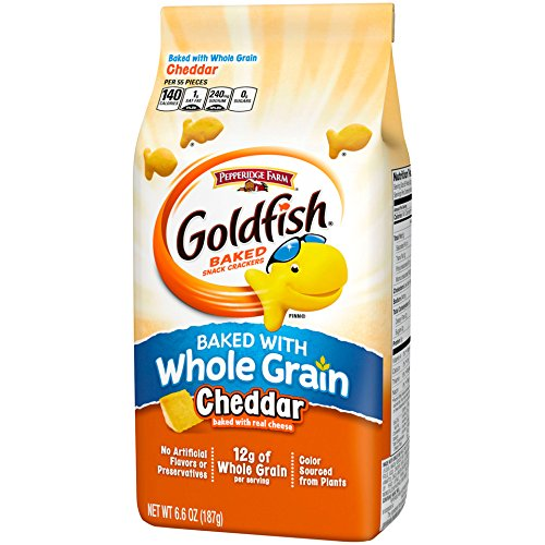 Pepperidge Farm Goldfish Crackers, Baked with Whole Grain, 6.6 ounce bags (Pack of (Pepperidge Farm Baked Naturals)