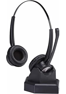 ab74eace002 Wireless Headset with Microphone for Blueooth Office Home Phone Call  Centers Over The Head Trucker Driver