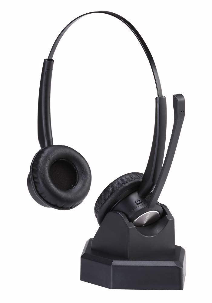 Wireless Headset with Microphone for Blueooth Office Home Phone Call Centers Over The Head Trucker Driver Headset Wireless Headphone for Cell Phone by MAIRDI