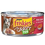 #9: Purina Friskies Extra Gravy Pate With Salmon in Savory Gravy Adult Wet Cat Food - Twenty-Four (24) 5.5 oz. Cans