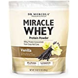 Dr. Mercola Miracle Whey Concentrate Protein Powder – Vanilla Flavor – Lean Muscle Growth, Immune Support – Colostrum, Sunflower Lecithin, MCT, Beta Glucan, Amino Acids: Cysteine, Glycine, Glutamate
