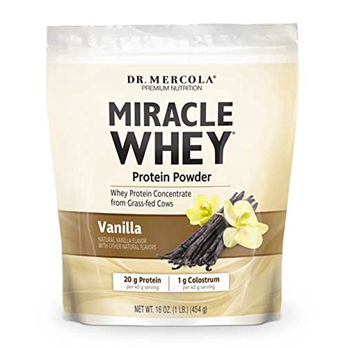 Dr. Mercola Miracle Whey Concentrate Protein Powder – Vanilla Flavor – Lean Muscle Growth, Immune Support – Colostrum, Sunflower Lecithin, MCT, Beta Glucan, Amino Acids: Cysteine, Glycine, Glutamate For Sale