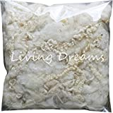 Felting Wool with Curly Locks for Needle Felting, Spinning, Doll Hair and Waldorf Crafts - Ivory