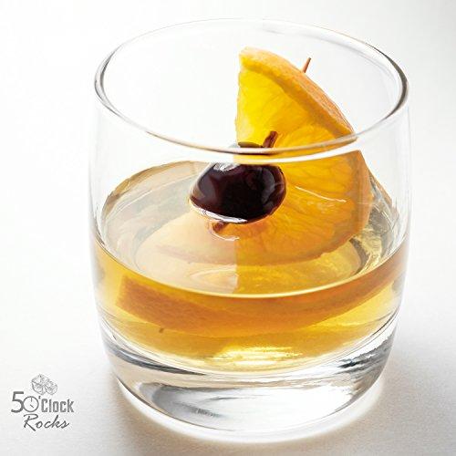 5 O'Clock Rocks Whiskey and Scotch Glasses