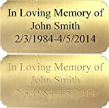 Customized Engraved Brass Plaque Plate