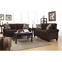 Serta Trinidad Sofa Set in Chocolate Fabric