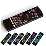ETbotu 2.4Ghz Air Mouse Remote Control 7 Colors Backlighting Keyboard for PC Samsung Smart TV