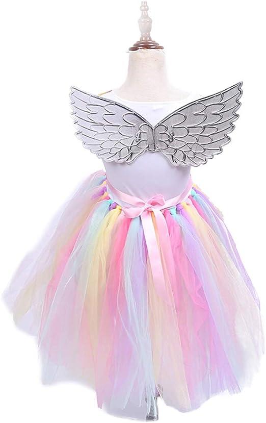 TOYANDONA - Falda de tutú de Unicornio arcoíris con Diadema de ...