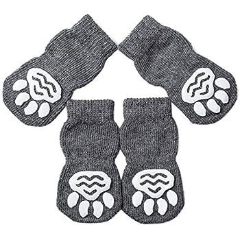 amazoncom akopawon pcs anti slip pet dog cat sockspaw protectortraction control