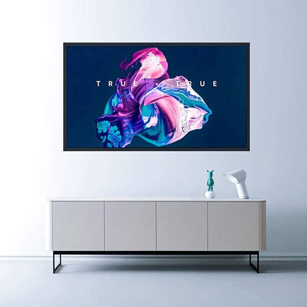 スクリーン プロジェクター ホーム・シアターシネマのために3 HDアンチ折り目屋外屋内作品画面:ポータブルプロジェクタースクリーン4 投影用 (Color : White, Size : 72inch)