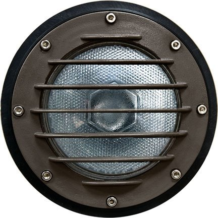 Dabmar Lighting DW4701-BZ Med Well Light with grill and Sleeve For PAR38, Bronze Finish by Dabmar Lighting