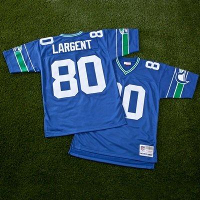 7b30ed900 Seattle Seahawks Steve Largent 1985 Replica Jersey  Amazon.co.uk ...