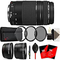 Canon EF 75-300mm f/4-5.6 III USM Telephoto Zoom Lens for Canon SLR Cameras w/ Accessory Kit