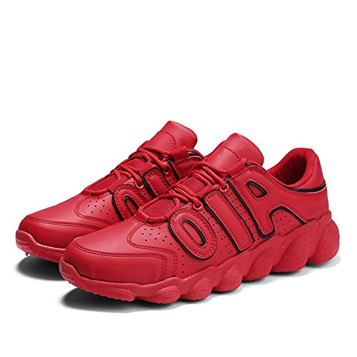 HUAN Men's Mens Youth Travel Running Color Non 40 Red Tulle Fall Shoes Red Breathable Shoes Shoes Black Size Sneakers Spring Lightweight Casual Slip White rrwAIdq