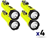 Nightstick XPP-5422GMX X-Series Intrinsically Safe Dual-Light Flashlight with Dual Magnets Green/Black (4 Pack)