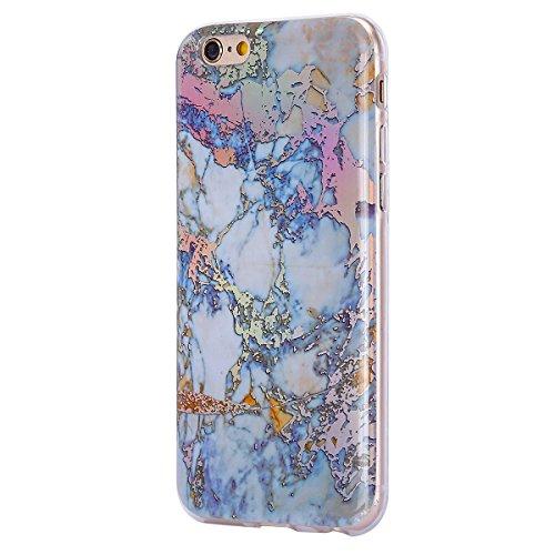 EUWLY Funda iPhone 6 Plus/iPhone 6s Plus (5.5), Apple iPhone 6s Plus Carcasas Silicona, Ultra Slim IMD Tecnología Coloreado Mármol Diseño TPU Silicona Funda Antigolpes Anti-Rasguño Absorbente Resista Marmol Dorado