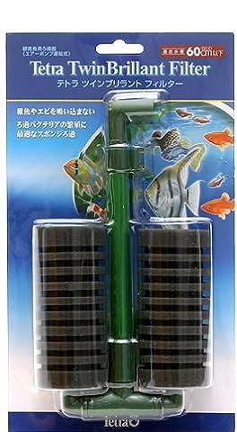 Tetra Twin Brillant Filter Sponge Filter for Aquarium Tank, up to 20 Gallon - Tetra Tubing