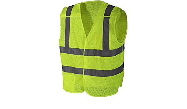 Amazon.com  Safety Green Reflective High Visibility 5-Point Breakaway  Safety Vest  Clothing e2bb2e25e6b