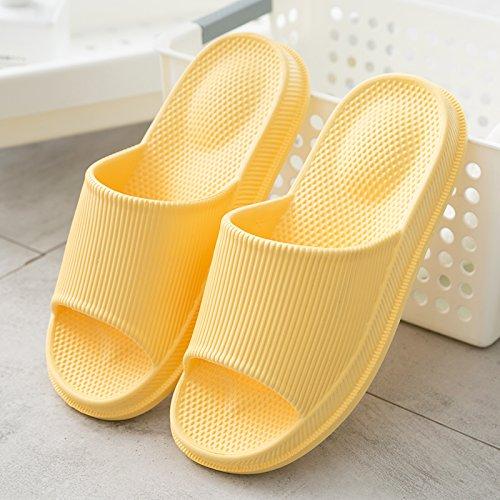 FankouCasa de masajes verano fresco verano zapatillas mujeres parejas interiores baño con bañera antideslizante grueso amarillo hasta ,38-39, zapatillas de casa