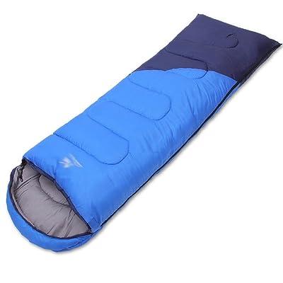 Sac de couchage en plein air 4 saisons avec du coton creux pour la randonnée de camping adulte (1,1 kg-2 kg)