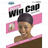 DREAM Deluxe Wig Cap Brown 24 pc (Model: 097 BROWN), Spandex cap, Wig cap, Mesh cap, Snood, Hair net, Fish net