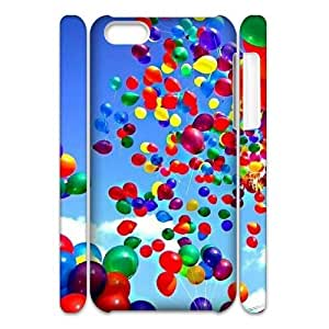 SHJFDIYCase Design Personalized Happy Balloons Hard Protective Back 3D Cover Case for Iphone 5C, Personalized Phone Case SHJF-510339