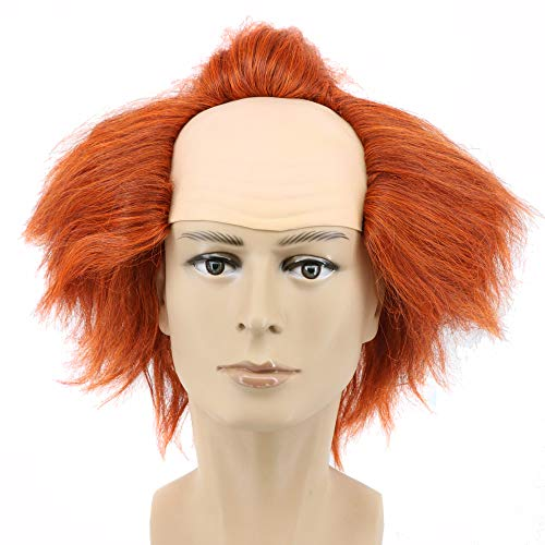 Yuehong Short Brown reepy Clown Hair Clown Wig Weave Wigs Halloween -