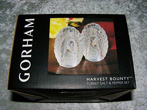 Gorham Harvest Bounty Turkey Salt & Pepper Set