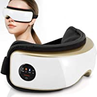 Heated Therapy Electric Eye Massager - Wireless Temple and Eye Massager Tool with Air Pressure and Vibration for…