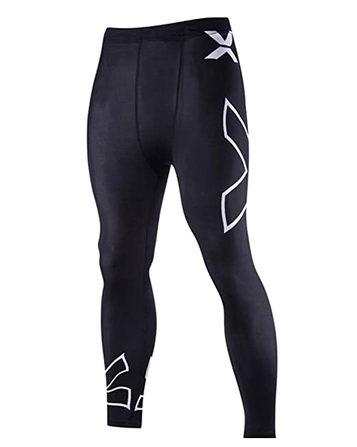 ZhuiKun Leggings de Compresión Base Capa Pantalones de Ciclismo para Hombre