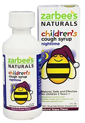 Zarbee's Naturals Children's Nighttime Cough Syrup, Grape, 4 Fl Ounce
