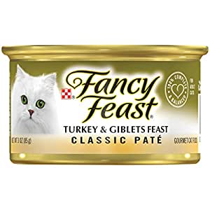 Purina Fancy Feast Classic Turkey & Giblets Wet Cat Food, 85 gm