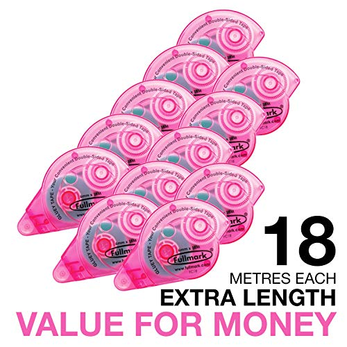 Fullmark Value Pack Special,Adhesive Roller Model C Pink,10-pc + 2 FREE Extra Adhesive ()