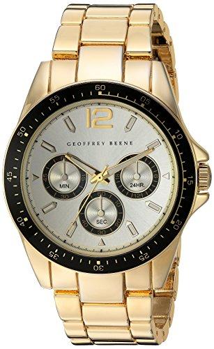 (Geoffrey Beene Men's GB8068GDCHBK Analog Display Japanese Quartz Gold Watch)