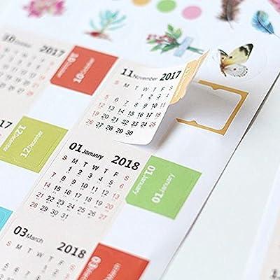 Divisor de calendario adhesivo 2018 Pinzhi, cuaderno, planificador ...