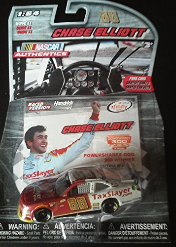Chase Elliot #88 STP Tax Slayer Paint Scheme 1/64 Scale Diecast Lionel NASCAR Authentics With Powershares QQQ Card (Diecast Nascar Paint)