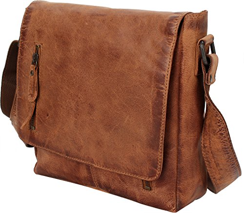 Brown Hamled Hamburg Portobello Cm 26 Bag Shoulder Leather UHv0wxHnqz