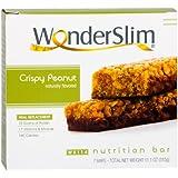 WonderSlim High Protein Meal Replacement Bar - High Fiber, Kosher, Crispy Peanut (7 Count)