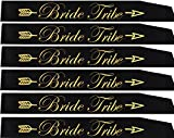 Gemich Bride tribe sash set(6 pack),bridesmaid sash,team bride sash,bachelorette sash set for bridesmaids,maid of honor,bridal shower and hen party decorations,favors,gifts,accessories and supplies