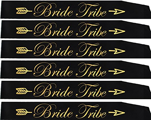 Gemich Bride tribe sash set(6 pack),bridesmaid sash,team bride