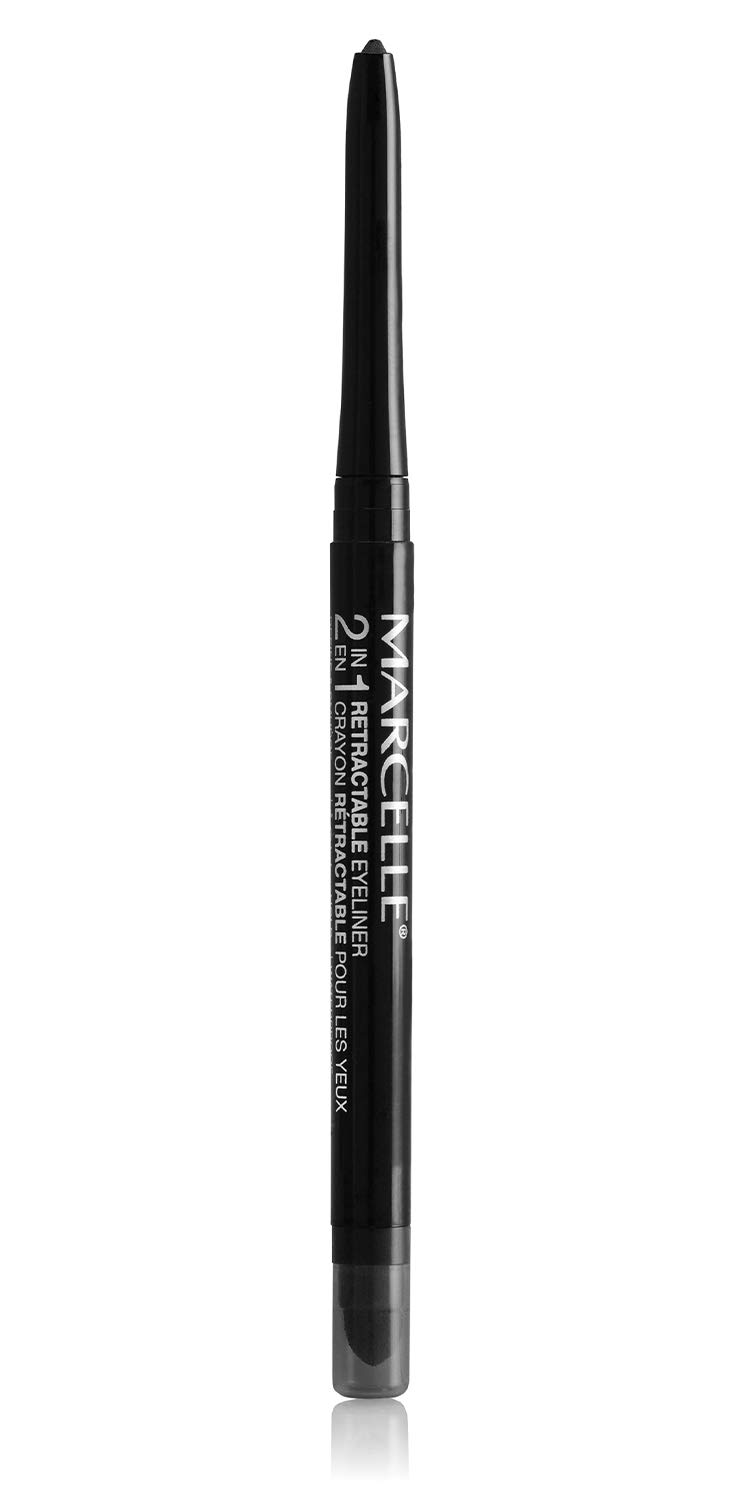 Marcelle 2-in-1 Retractable Eyeliner, Black, Hypoallergenic and Fragrance-Free, 0.01 oz