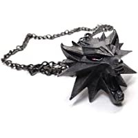 Witcher's Wolf Pendant Necklace in Cast Iron by CD Projekt Red