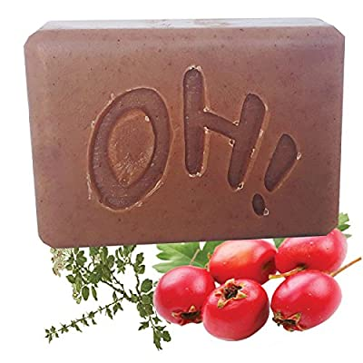 Organic Eucalyptus and Hawthorne Berry Organic Eucalyptus and Orange Essential Oil Scent Handmade, Organic, All Natural, Vegan Non-GMO Soap Bar 4.5 oz for the Body, Face, Hands by Women, Men,Teens. .