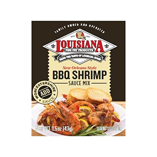Louisiana Fish Fry BBQ Shrimp Sauce Mix, 1.5-Ounce (Pack of 12) Bbq Shrimp