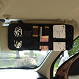 Car Visor Organizer Tactical Elastic Sun Visor Storage Board Card Storage and Electronic Accessory Holder