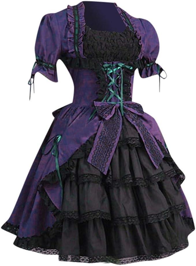 Fossenfeliz Disfraz Halloween Mujer de Cuello Cuadrado, Disfraces ...