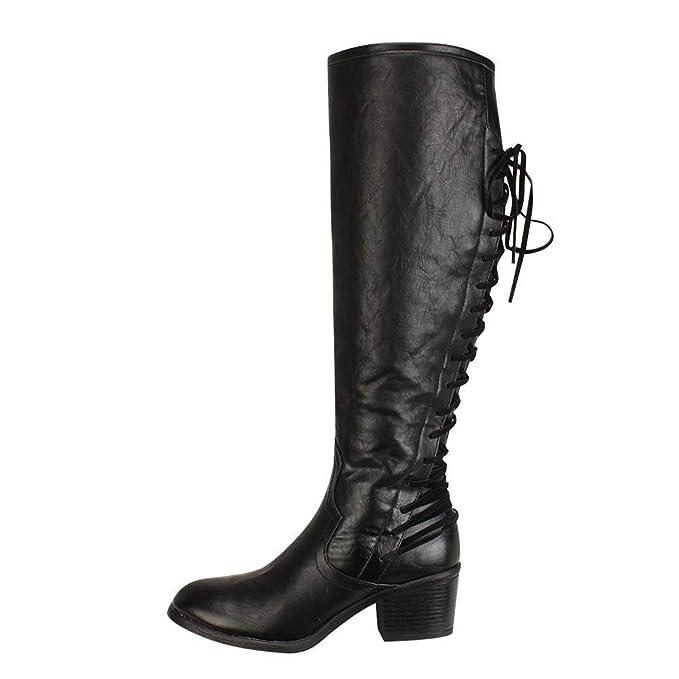 POLP Zapatos Altos Talones Mujer Invierno Zapatos Moda Malla Alto Botas Botas de Agua de Trabajo