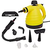Lucky Tree Handheld Steam Cleaner Multi-Purpose Pressurized With 9 Accessories For Stain Removal (yellow)